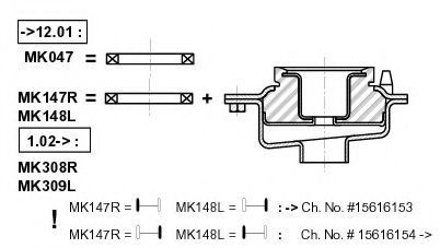 Монтажный комплект амортизатора MONROE MK047