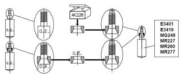 Амортизаторы подвески 2шт. MONROE MR-260