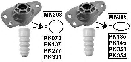Защитный комплект амортизатора MONROE PK078