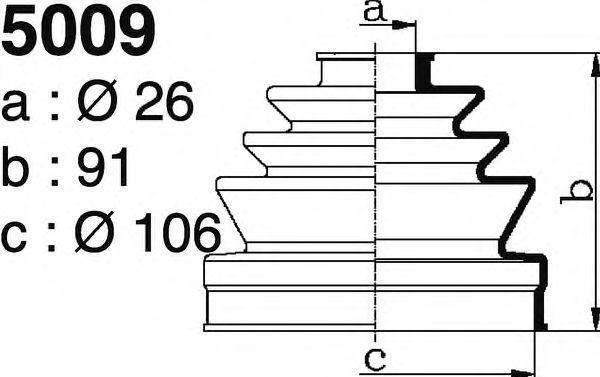 Комплект пылника, приводной вал DEPA 5009