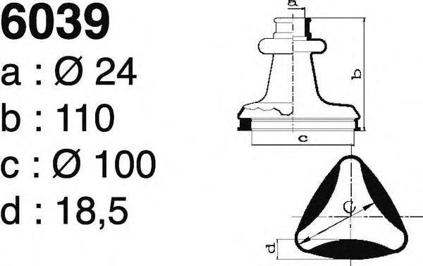 Комплект пылника, приводной вал DEPA 6039