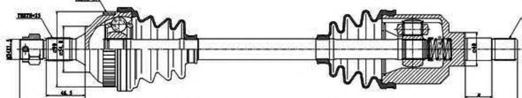 Купить Вал приводной GSP 210131