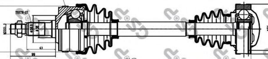 Купить Вал приводной GSP 235002