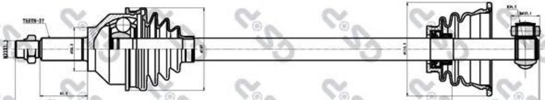 Купить Вал приводной GSP 244003
