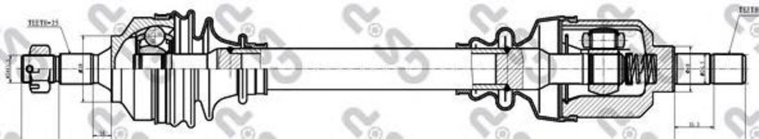 Купить Вал приводной GSP 245105