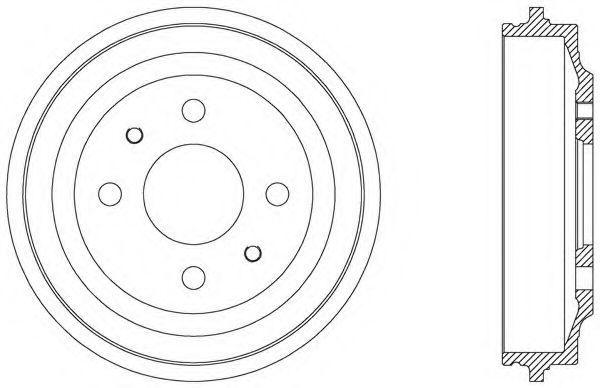 Тормозной барабан OPEN PARTS BAD900010