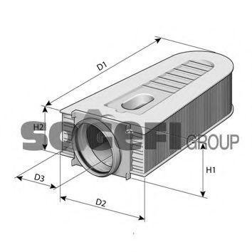 Фильтр воздушный PURFLUX A1470