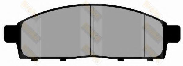Комплект тормозных колодок, дисковый тормоз TOKO PA1808