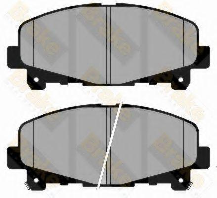 Комплект тормозных колодок, дисковый тормоз TOKO PA1826