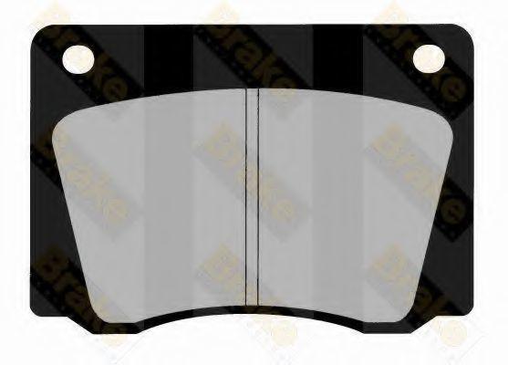 Комплект тормозных колодок, дисковый тормоз TOKO PA203