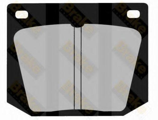 Комплект тормозных колодок, дисковый тормоз TOKO PA217