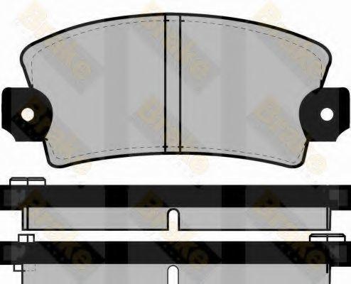Комплект тормозных колодок, дисковый тормоз TOKO PA228