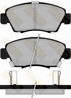 Комплект тормозных колодок, дисковый тормоз TOKO PA745