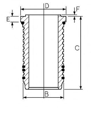 Гильза блока цилиндров GOETZE 1467642000