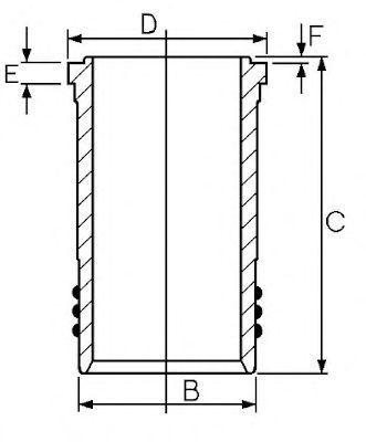 Гильза блока цилиндров GOETZE 14-450880-00