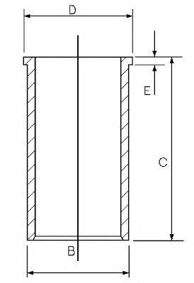 Гильза блока цилиндров GOETZE 1402721000