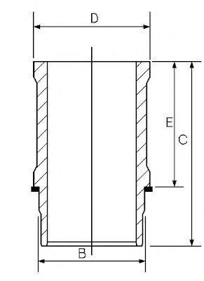 Гильза двигателя GOETZE 14-636600-00