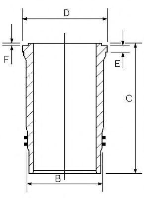 Гильза блока цилиндров GOETZE 1548008000