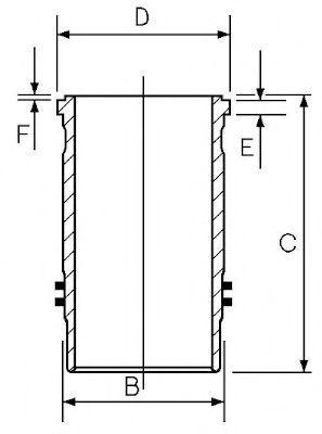 Гильза блока цилиндров GOETZE 1545019000