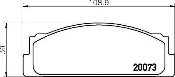 Колодки тормозные TEXTAR 2007304