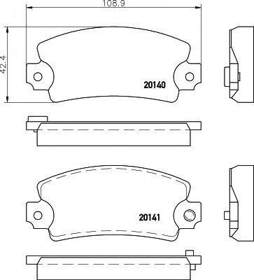 Комплект тормозных колодок, дисковый тормоз TEXTAR 2014003