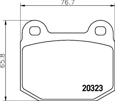 Колодки тормозные TEXTAR 2032306