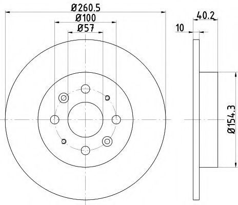 Диск тормозной TEXTAR 92162200