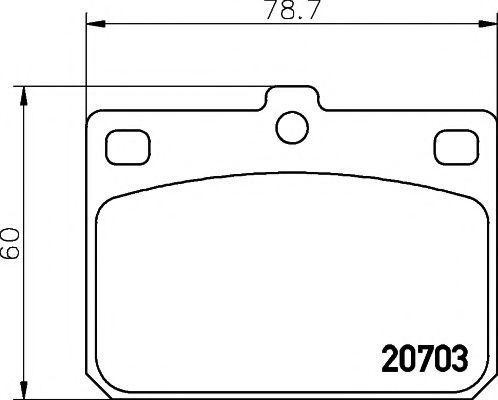 Колодки тормозные TEXTAR 2070302