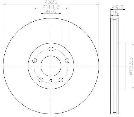 Диск тормозной TEXTAR 92162400