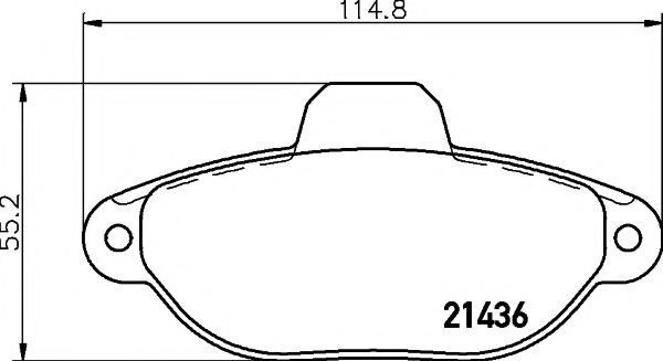 Колодки тормозные TEXTAR 2143602