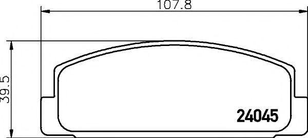 Комплект тормозных колодок, дисковый тормоз TEXTAR 2404505