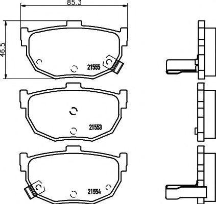 Колодки тормозные TEXTAR 2155301