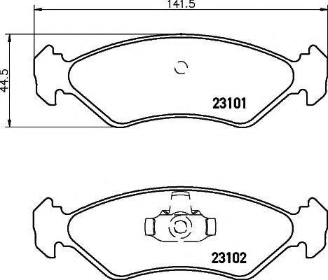 Колодки тормозные TEXTAR 2310101