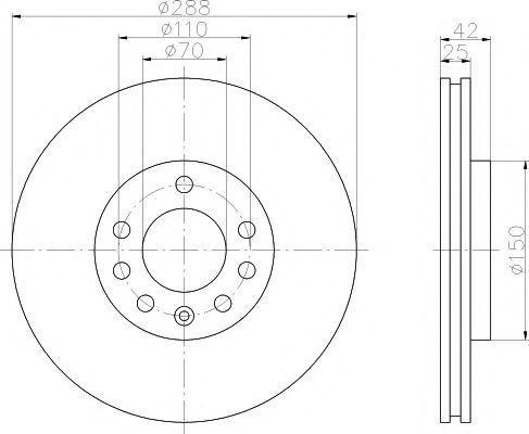 Диск тормозной TEXTAR 92075603