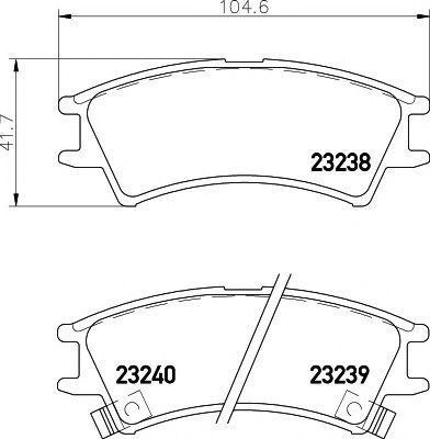 Колодки тормозные дисковые TEXTAR 2323802