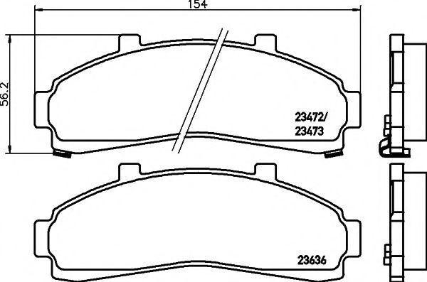 Колодки тормозные передние TEXTAR 2347201