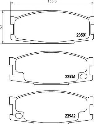 Колодки тормозные TEXTAR 2350101