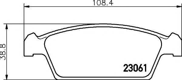 Колодки тормозные TEXTAR 2306101