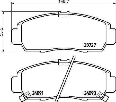 Колодки тормозные TEXTAR 2372901
