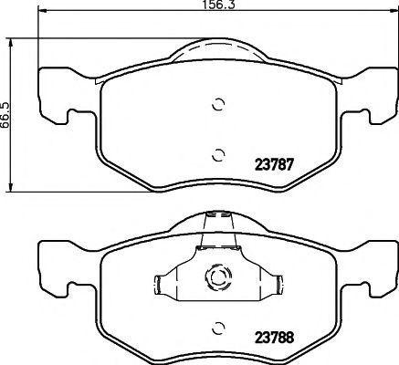 Колодки тормозные передние TEXTAR 2378701