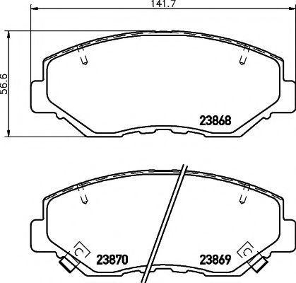 Колодки тормозные TEXTAR 2386801