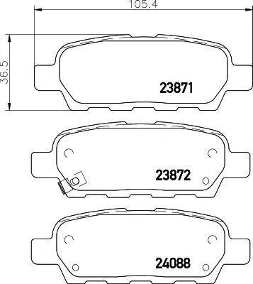 Колодки тормозные TEXTAR 2387101