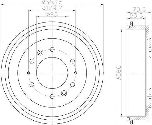 Тормозной барабан TEXTAR 94020800