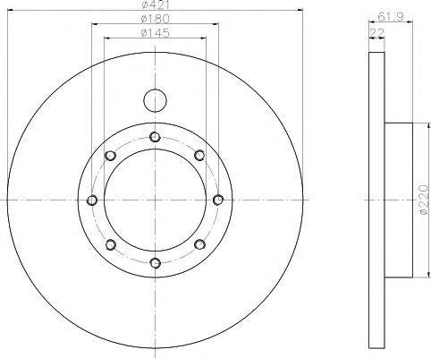 Тормозной диск TEXTAR 93028800