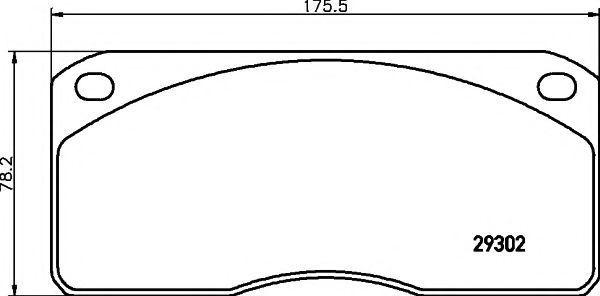 Комплект тормозных колодок, дисковый тормоз TEXTAR 2930201