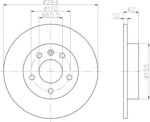 Диск тормозной TEXTAR 92092103