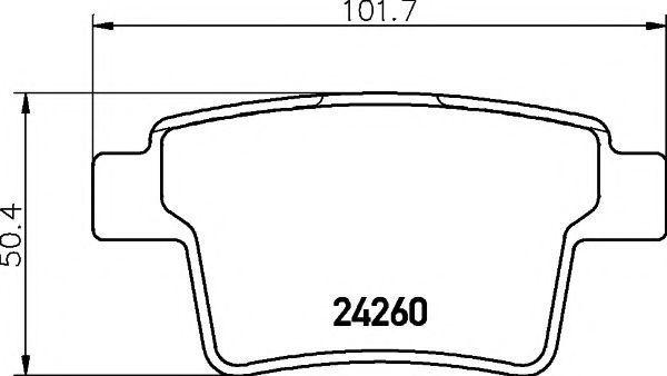 Колодки тормозные TEXTAR 2426001