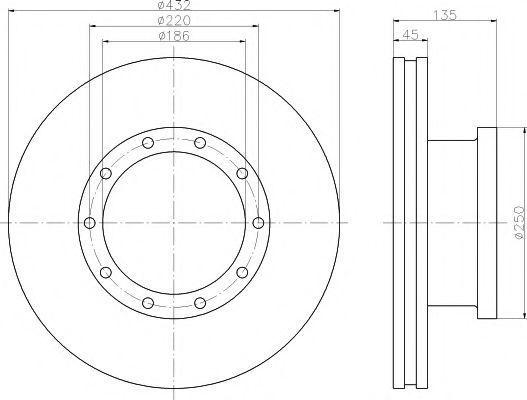 Тормозной диск TEXTAR 93058100