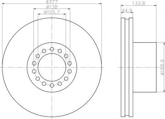 Тормозной диск TEXTAR 93101400