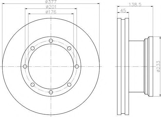 Тормозной диск TEXTAR 93101500